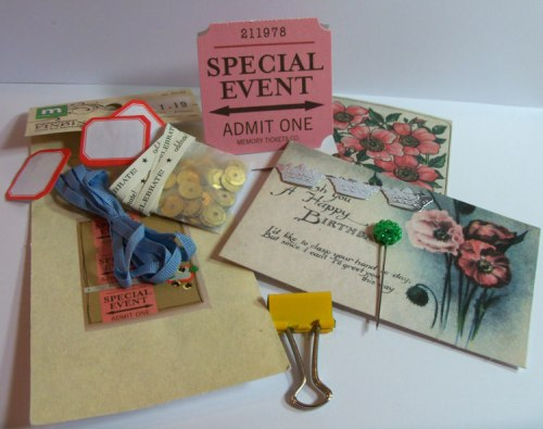 Making Memories Vintage Findings Kit contents