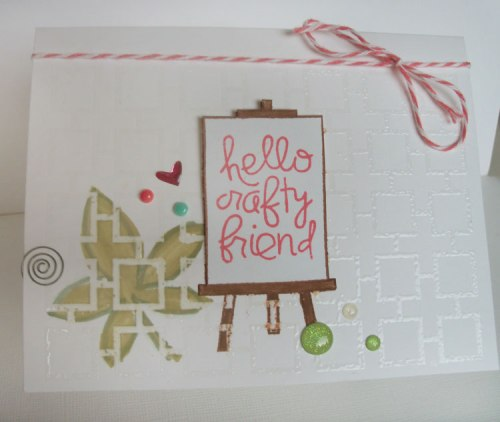 Crafty Friend card, Paper Smooches Challenge