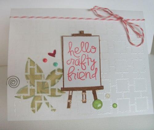 Crafty Friend card, Paper Smooches Challenge