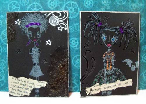 Goth girl ATCs Spykee and Prom Queen