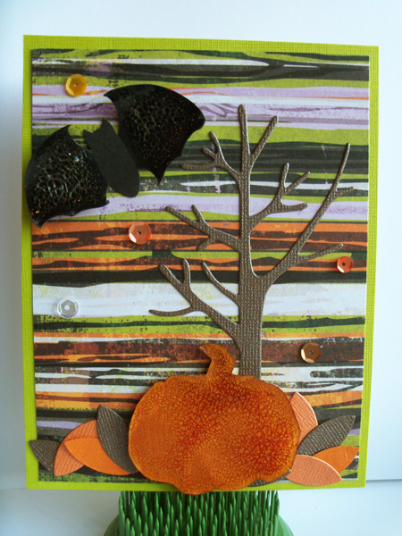 Crackle Pumpkin card by Crafting{Without}Kids