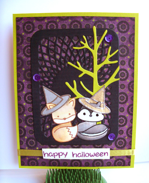 Lawn Fawn Halloween card by Crafting{without}Kids