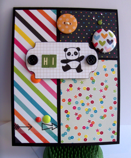 Party Panda card by Crafting{without}Kids