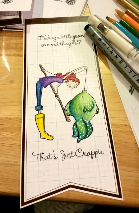 Crappie Bookmark for 30 Day Color Challenge with The Daily Marker #TheDailyMarker30Day