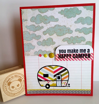 Happy Camper handmade card by Crafting{without}Kids