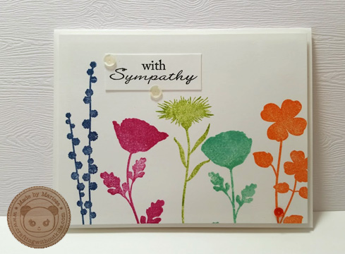 Sympathy handmade card for MFT made by Crafting{without}Kids