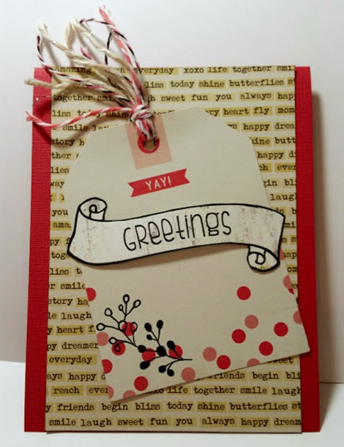 Handmade card by crafting{without}kids for TCP challenge.