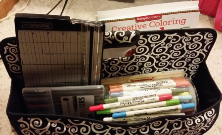 Coloring Caddy for the Daily Marker Coloring Challenge