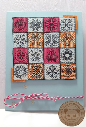Quilt card by Crafting{without}Kids