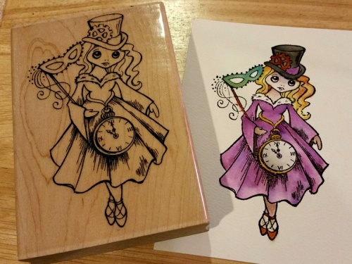Steampunk Alice with Distress Markers by Crafting{without}Kids